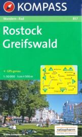 Wandelkaart Rostock - Greifswald | Kompass 857 | ISBN 9783850261258