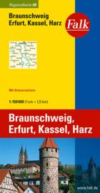 Wegenkaart Braunschweig - Erfurt  - Kassel - Harz | Falk nr. 8 | 1:150.000 | ISBN 9783827918086