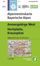 Wandelkaart Ammergebirge West, Hochplatte | DAV BY6 | ISBN 9783937530369