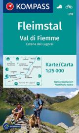 Wandelkaart Fleimstal - Val di Fiemme | Kompass 618 |1:25.000 | ISBN 9783990443897