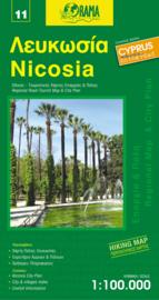 Wegenkaart - Fietskaart Nicosia (11) Cyprus   1:100.000   Orama editions   ISBN 9789604486687