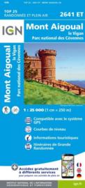 Wandelkaart Mont Aigoual, Le Vigan PN des Cevennes | Cevennen | IGN 2641ET - IGN 2641 ET  | ISBN 9782758546542