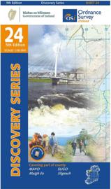 Wandelkaart Ordnance Survey / Discovery series | Mayo/ Sligo 24 | ISBN 9781912140121