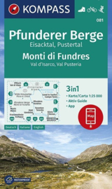 Wandelkaart Pfunderer Berge / Monti di Fundres | Kompass 081 | 1:25.000 | ISBN 9783990446249