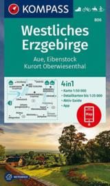 Wandelkaarten Erzgebirge Westliches  | Kompass 806 | 1:50.000 | ISBN 9783990447246