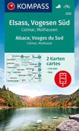 Wandelkaart - Fietskaart Elzas - Vogezen Zuid | Kompass 2222 | 1:50.000 | ISBN 9783990448724