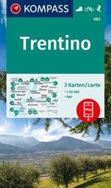 Wandelkaart - Fietskaart Trentino | 3-delige set | Kompass 683 | 1:50.000 | ISBN 9783991212461