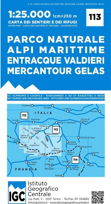Wandelkaart Parco Naturella Alpi Marittime   IGC nr.113   1:25.000 - ISBN 9788896455432