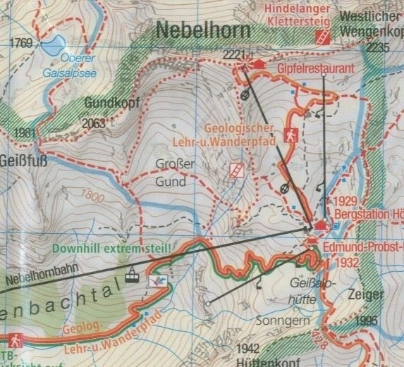 Wandelkaart Oberstdorf , Kleinwalsertal   Kompass 03   1:25.000   ISBN 9783990444719