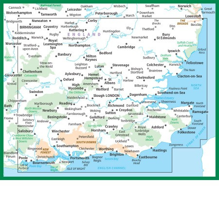 Wegenkaart Zuidoost Engeland Ordnance Survey Road Map 8 1
