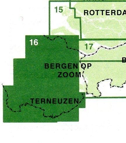 Fietskaart Zeeuwse Eilanden met Zeeuws-Vlaanderen nr. 16 | 1:50.000 | ISBN 9789028730571
