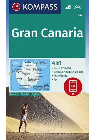 Wandelkaart Gran Canaria | Kompass 237 | 1:50.000 | ISBN 9783990446423