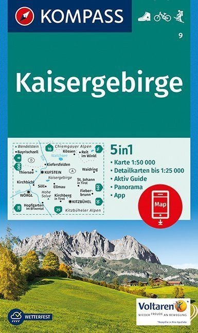 Wandelkaart Kaisergebirge | Kompass 9 | 1:50.000 | ISBN 9783990442791