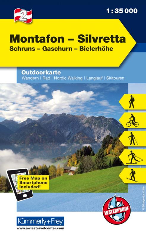 Wandelkaart Montafon - Silvretta   Kümmerly & Frey   1:35.000   ISBN 9783259007112