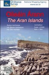 Wandelkaart Aran eilanden - Ierland |  Ordnance Survey Ireland | 1:25.000 | ISBN 9781908852250