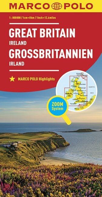 Wegenkaart Groot Brittannië & Ierland | Marco Polo | 1: 800.000 | ISBN 9783829738309