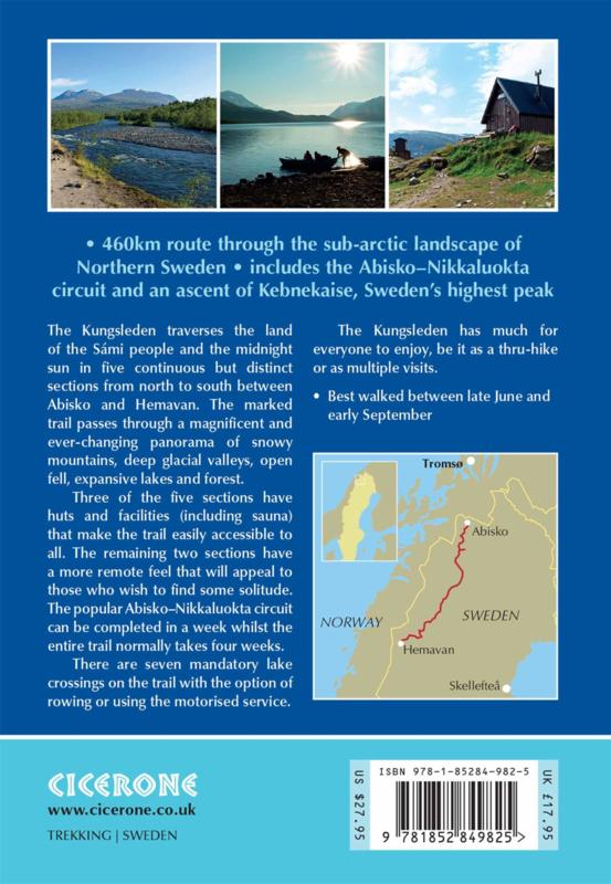 Wandelgids Kungsleden - Walking Sweden's Royal Trail   Cicerone   ISBN 9781852849825