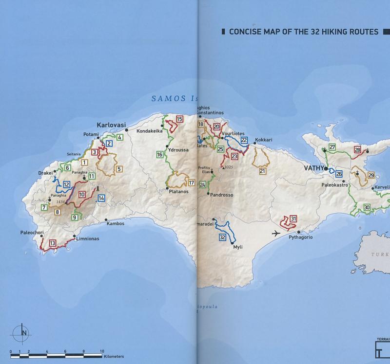 Wandelgids Samos Hiking Guide | Terrain maps | ISBN 9786185160043