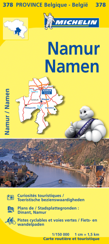 Wegen- en Fietskaart Namen | Michelin 378 | 1:150.000 | ISBN 9782067185357