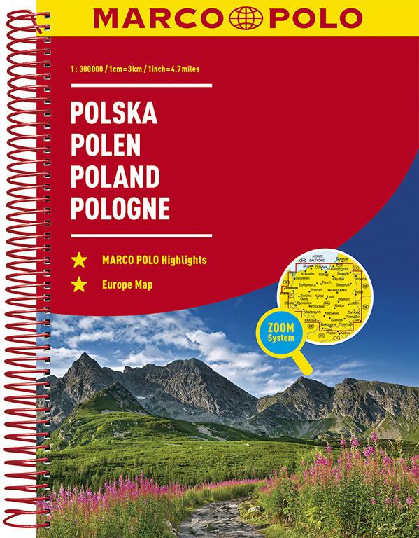 Wegenatlas Polen   Mair - Marco Polo   1:300.000   ISBN 9783829736879