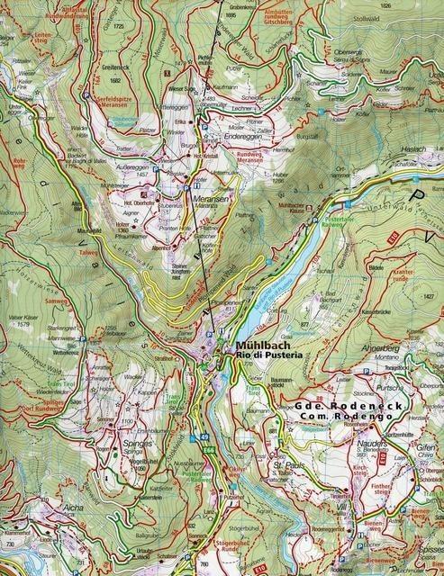 Wandelkaart Pustertal - Val Pusteria   Kompass 671   3-delig   1:25.000   ISBN 9783991211266