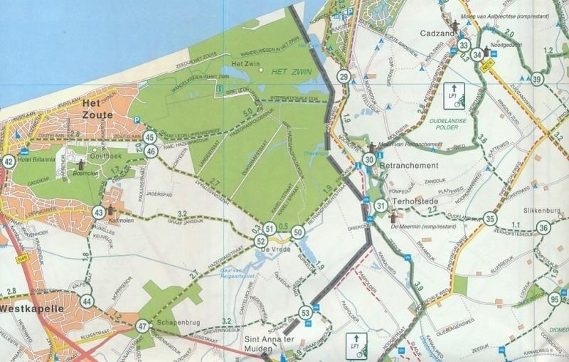 Fietskaart Zeeuws Vlaanderen 31 | Falk | ISBN 9789028700413