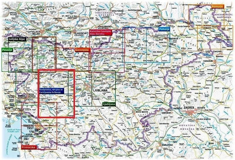 Wandelkaart Skofjelosko - Idrijsko - Cerkljansko - Slovenië   KartoGrafija   1:40.000   ISBN 3830048522557