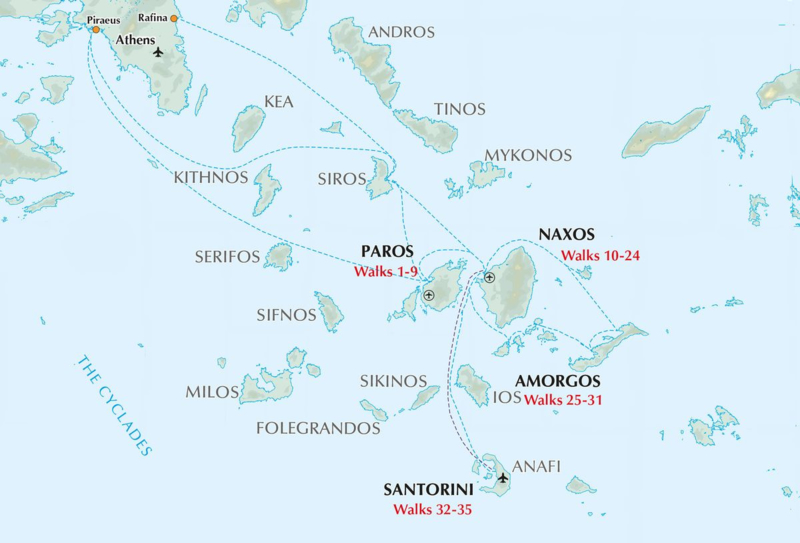 Wandelgids Walking on the Greek Islands : Cycladen   Cicerone   ISBN 9781786310095