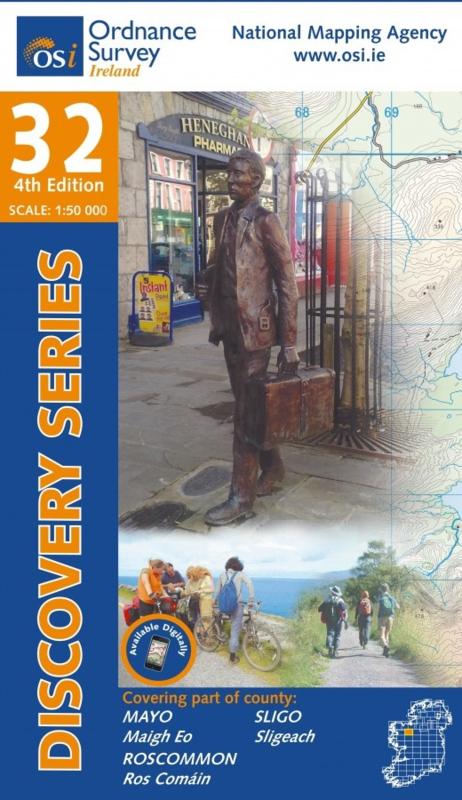 Wandelkaart Ordnance Survey / Discovery series | Mayo /Roscommon / Sligo 32 | ISBN 9781908852700