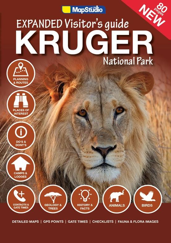 Reisgids - Natuurgids - Wegenatlas Expanded Visitor's Guide Kruger National Park | MapStudio | ISBN 9781770269460