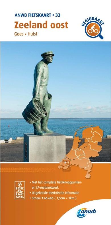 Fietskaart  Zeeland Oost   ANWB 33    1:66.666   ISBN 9789018047344