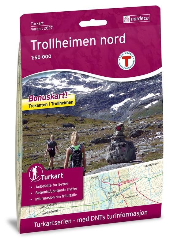 Wandelkaart Trollheimen Noord -  Trollheimen Nord | Nordeca 2827 | 1:50.000 | ISBN 7046660028278