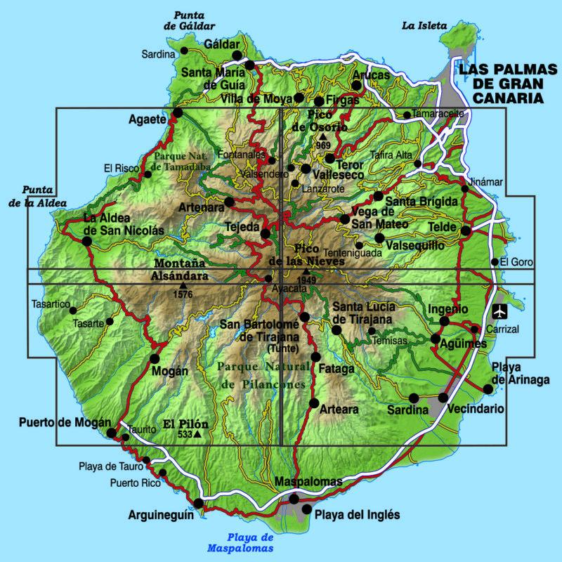 Wandelkaart Gran Canaria | Editorial Alpina 4-delig | 1:25.000 | ISBN 9788480908542