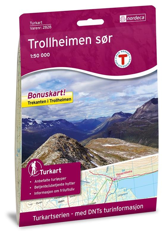 Wandelkaart Trollheimen Zuid -  Trollheimen Sør   Nordeca 2828   1:50.000   ISBN 7046660028285