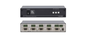 Kramer VP-32K 3x1:2 VGA switcher met audio