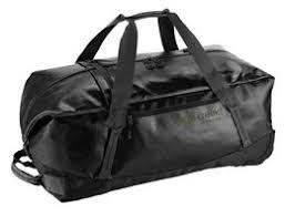 Jet Black 110 liter wielen en rugzak