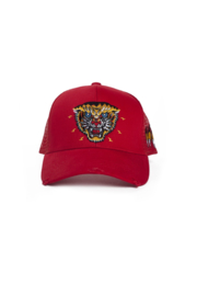 New School Tiger Trucker Cap Red By Black Bananas