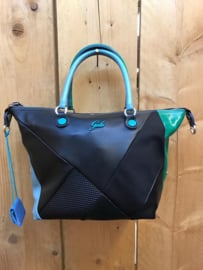 Zwart/groen/blauw met schouderband G3
