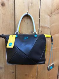 zwart/geel/taupe met  schouderband G3