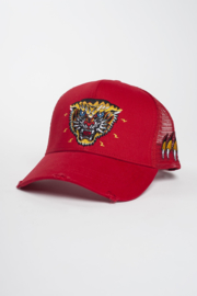 New School Tiger Trucker Cap Red By Black Bananas
