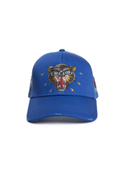 New School Panther Trucker Cap Blue By Black Bananas