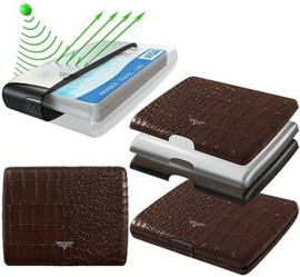 Tru Virtu bruin/leer croco wallet money&cards