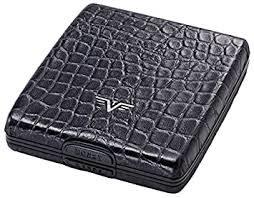 Tru Virtu zwart/leer croco wallet money&cards