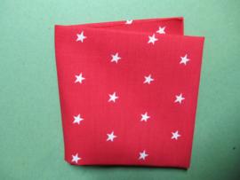 Rode stof met sterretjes