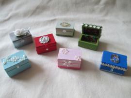 Workshop pakketje voor houten kistje 2 x 3 cm