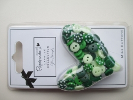 Mini Polka Buttons groen