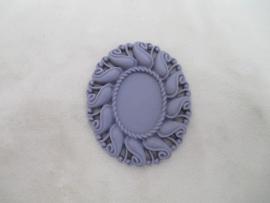 Spiegel/foto frame mouve acryl