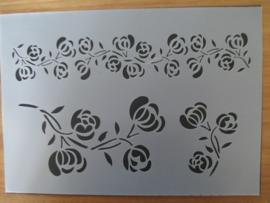 Sjabloon bloem, A4