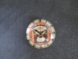 Klok Koffie tijd, doorsnede 2,5 cm.