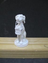 Beeld hond wit 5,5 cm hoog